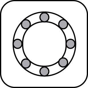 simbolo del cuscinetto guida