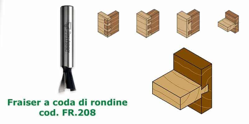 Fresa a coda di rondine Fraiser Tools