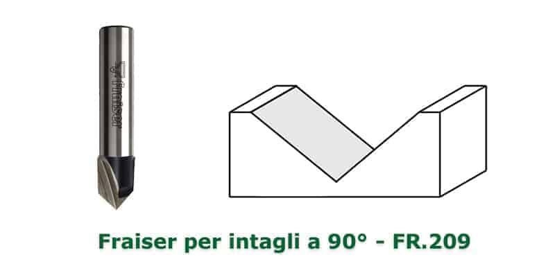 fresa per intagli a 90° Fraiser Tools