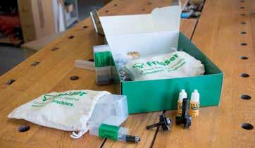 kit di frese e liquido inviato da Fraiser Tools a LegnoLab